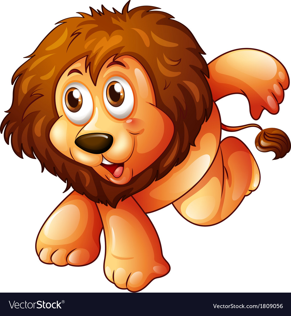 A lion in a jumping position vector | Price: 1 Credit (USD $1)