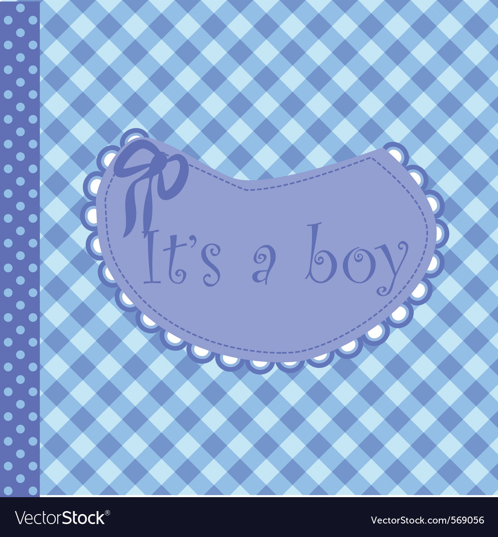Baby arrival announcement for boy vector | Price: 1 Credit (USD $1)