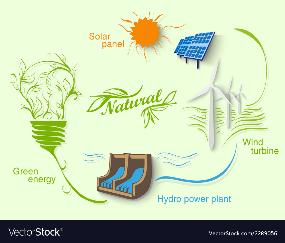 Diagram of clean energy vector | Price: 1 Credit (USD $1)