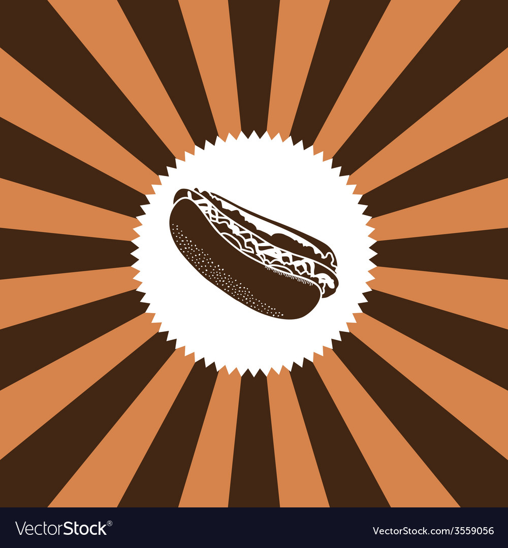 Food and drink theme hot dog vector | Price: 1 Credit (USD $1)