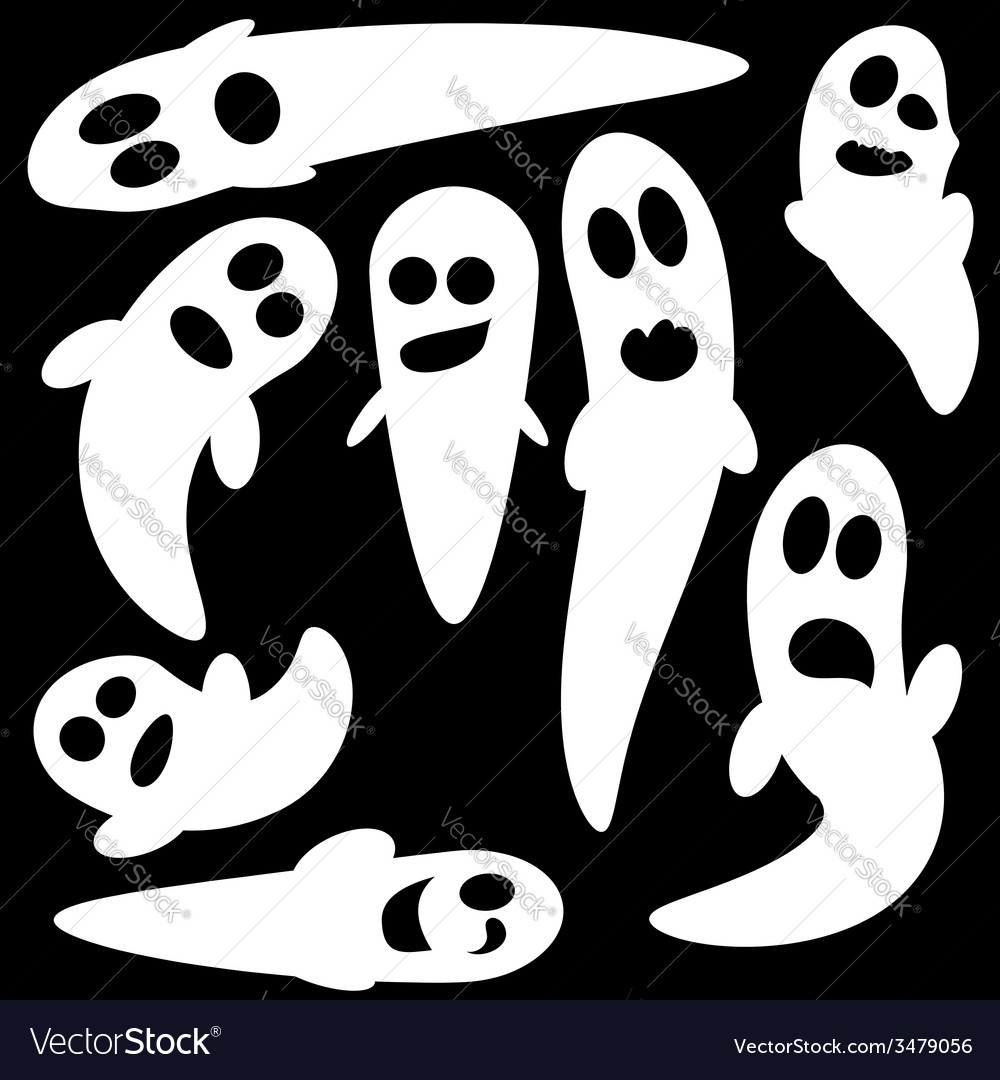 Ghosts vector | Price: 1 Credit (USD $1)
