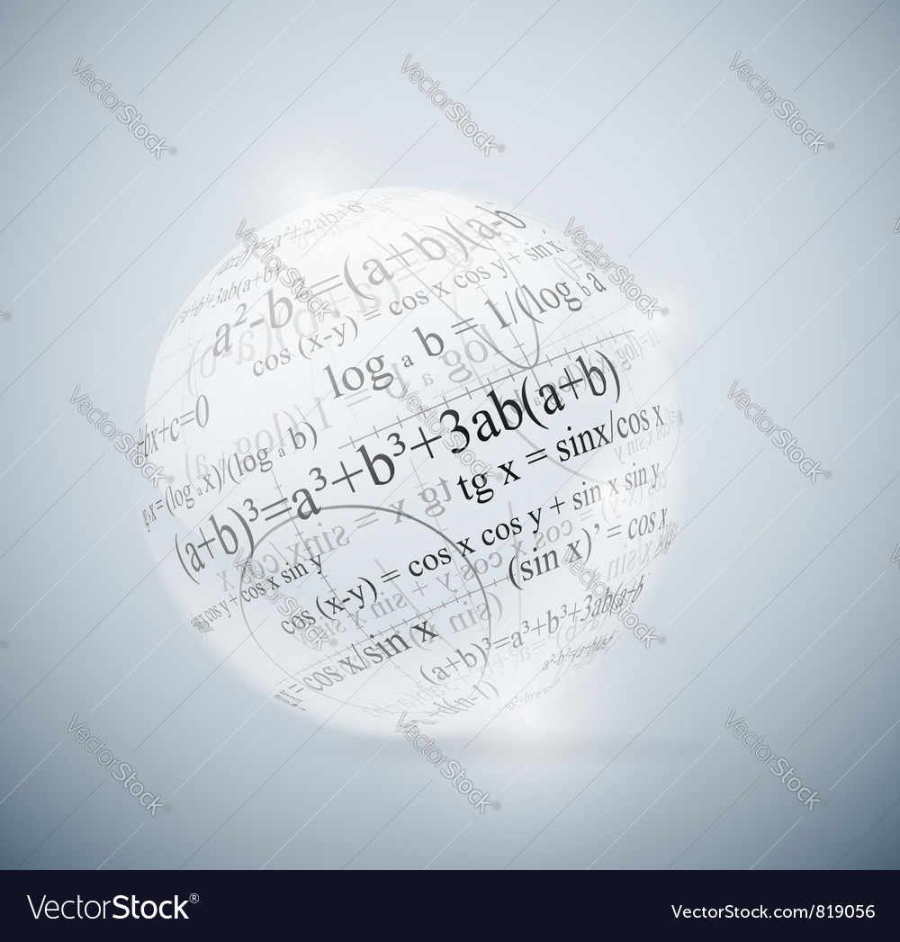 Mathematical sphere vector | Price: 1 Credit (USD $1)