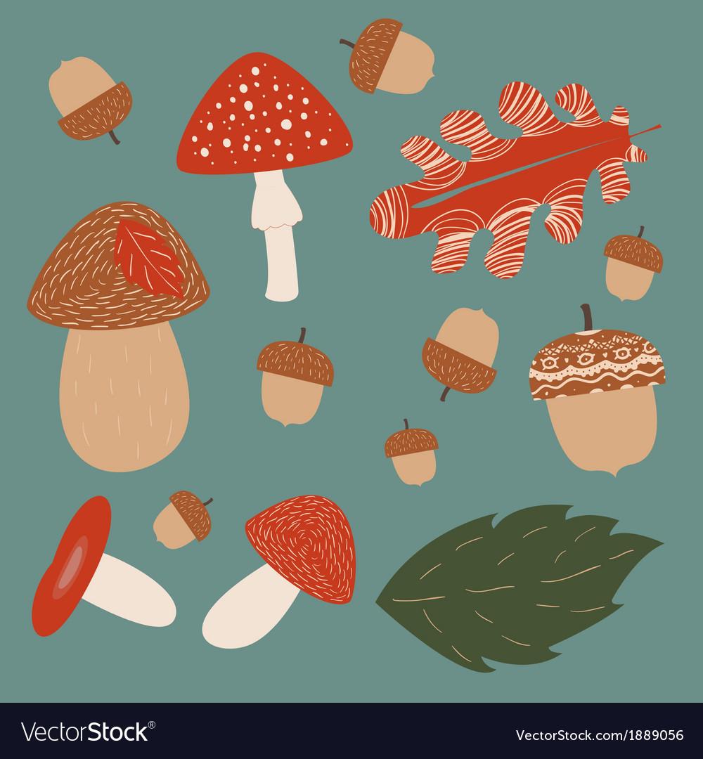 Mushroom hunting vector | Price: 1 Credit (USD $1)