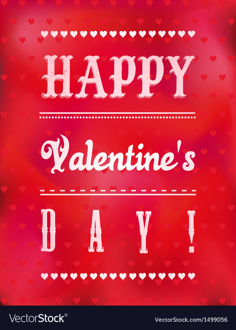 Romantic valentines day greeting card vector | Price: 1 Credit (USD $1)