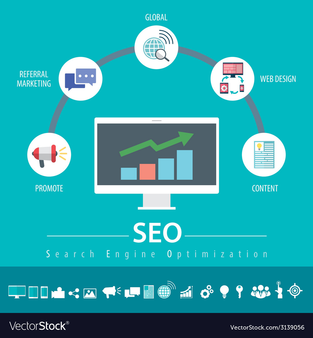 Seo infographic vector | Price: 1 Credit (USD $1)