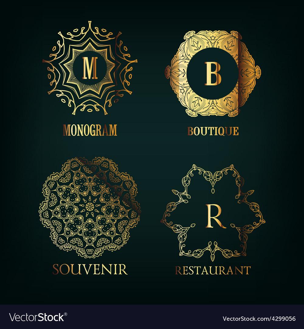 Set of luxury simple and elegant monogram vector | Price: 1 Credit (USD $1)