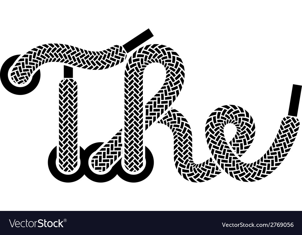 Shoe lace the vintage symbol vector | Price: 1 Credit (USD $1)