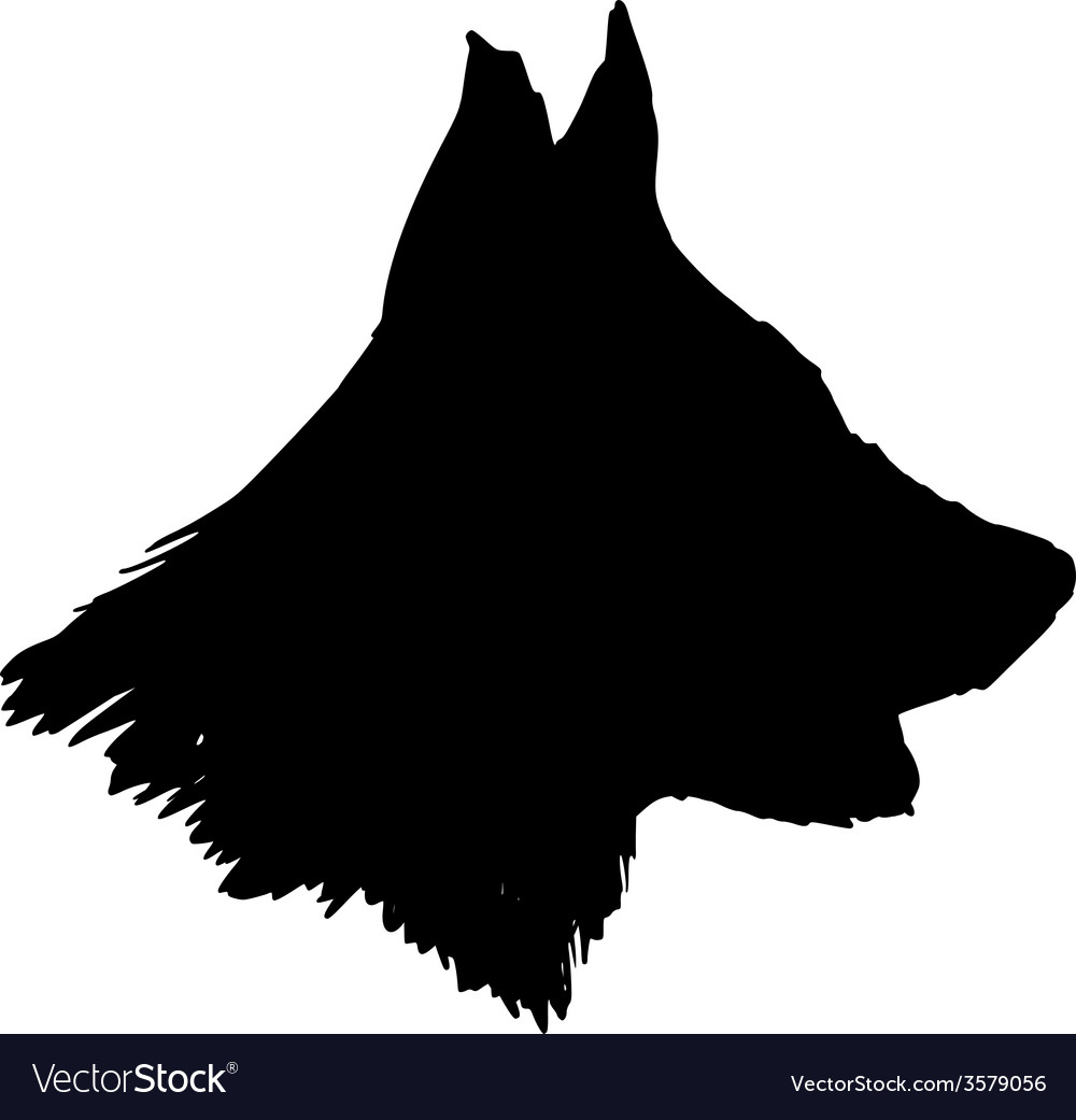 Silhouette of dog vector | Price: 1 Credit (USD $1)