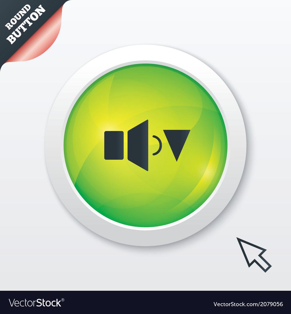 Speaker low volume sign icon sound symbol vector   Price: 1 Credit (USD $1)