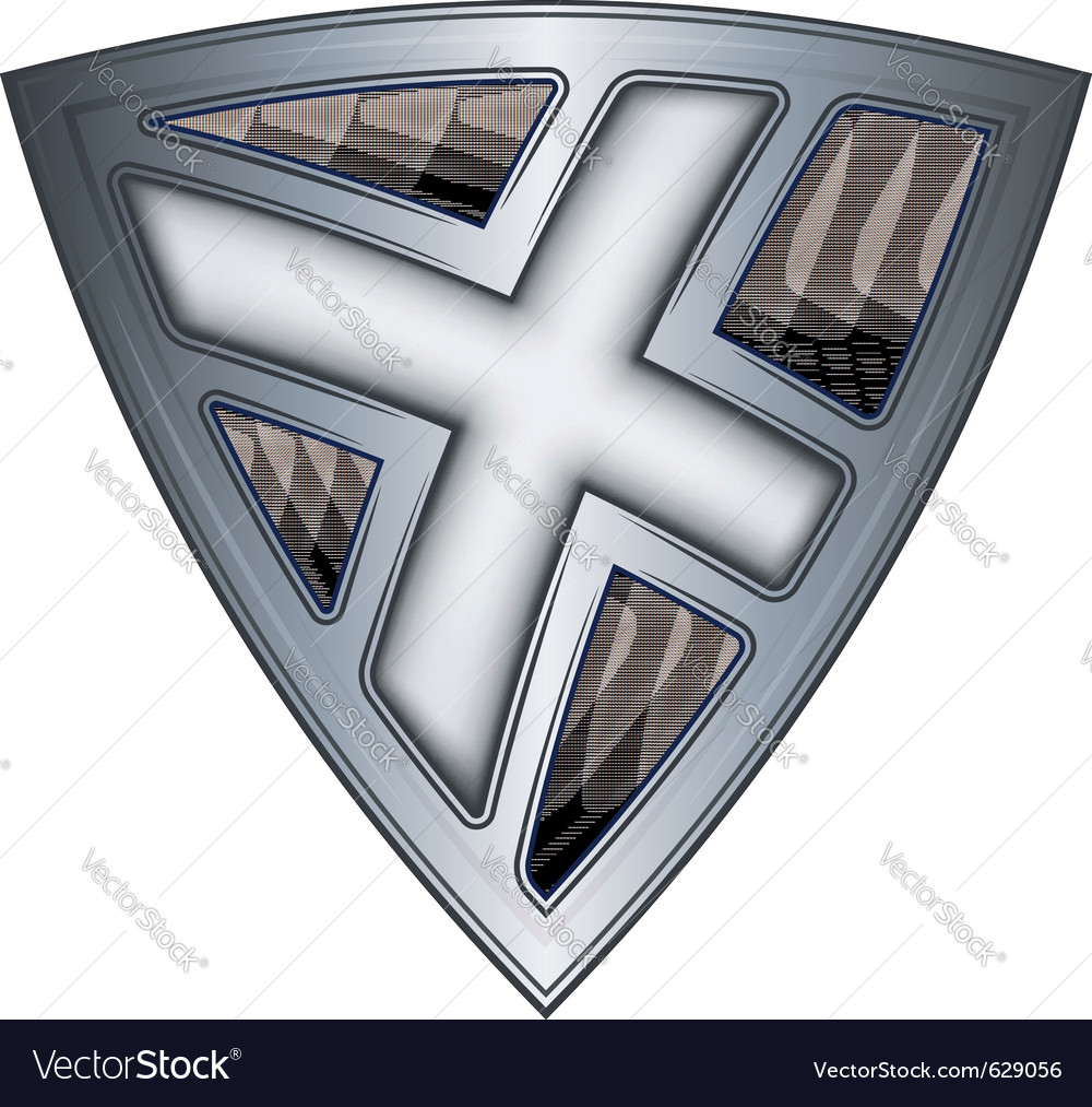 Steel shield with flag scotland vector | Price: 1 Credit (USD $1)