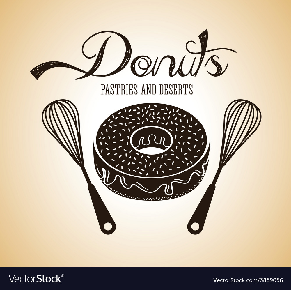 Sweet donuts vector | Price: 1 Credit (USD $1)
