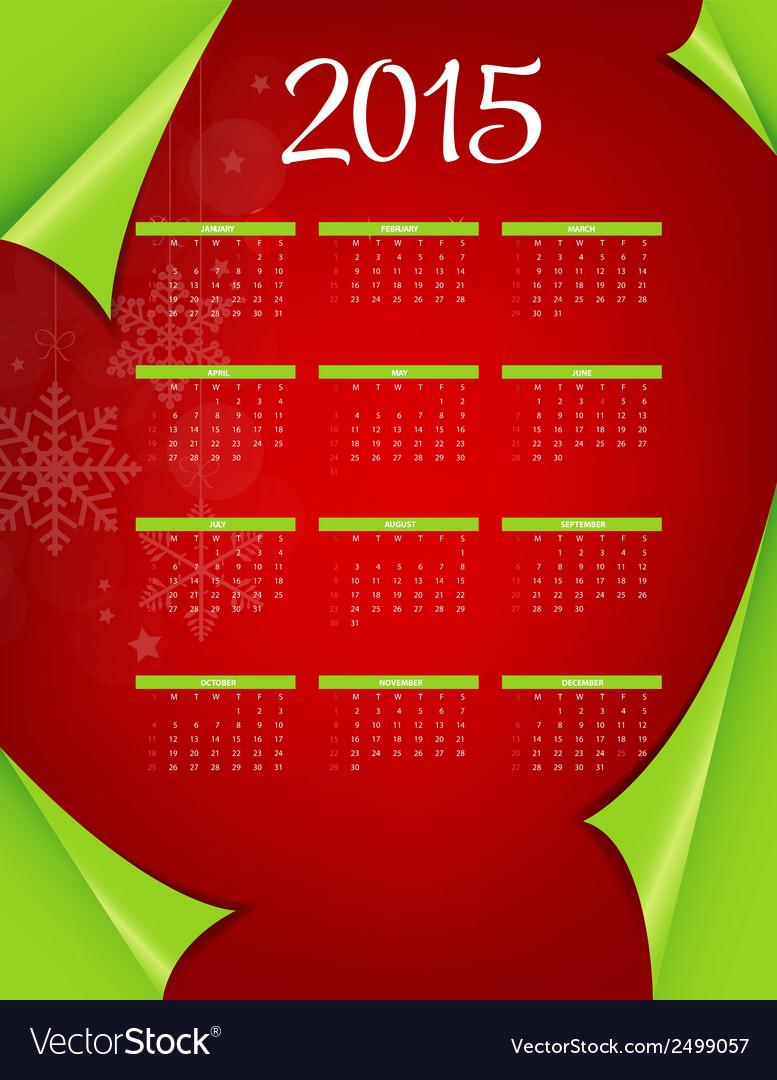 2015 new year calendar vector | Price: 1 Credit (USD $1)