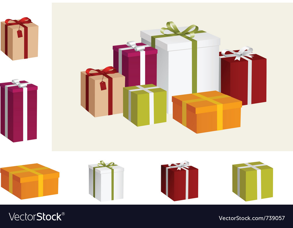 Gift collection vector | Price: 1 Credit (USD $1)