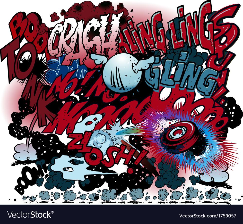 Graffiti comic book explosions vector   Price: 1 Credit (USD $1)