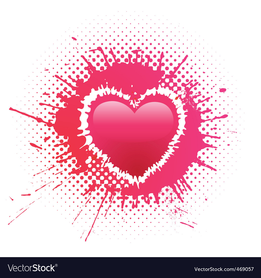 Heart blot vector | Price: 1 Credit (USD $1)