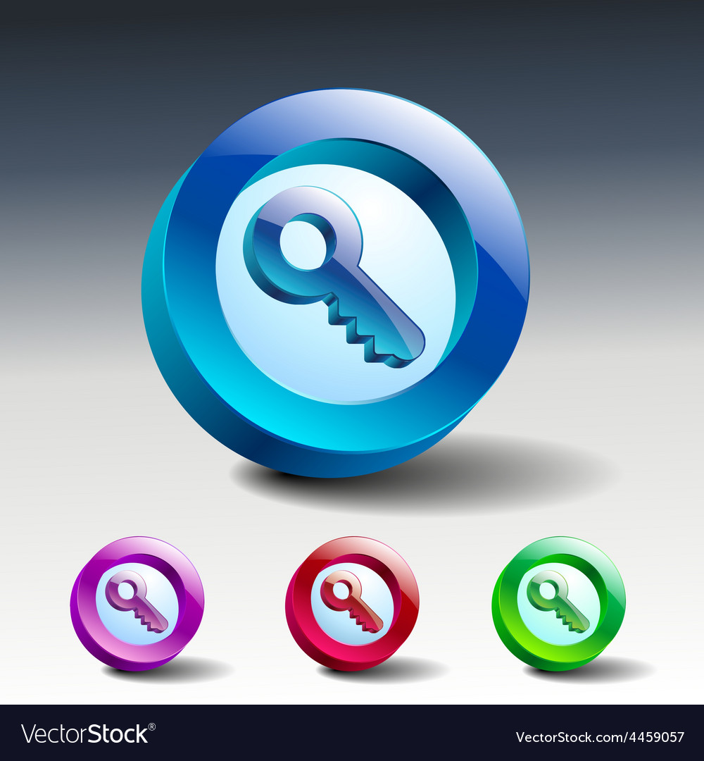 Key icon secure security web vector | Price: 1 Credit (USD $1)