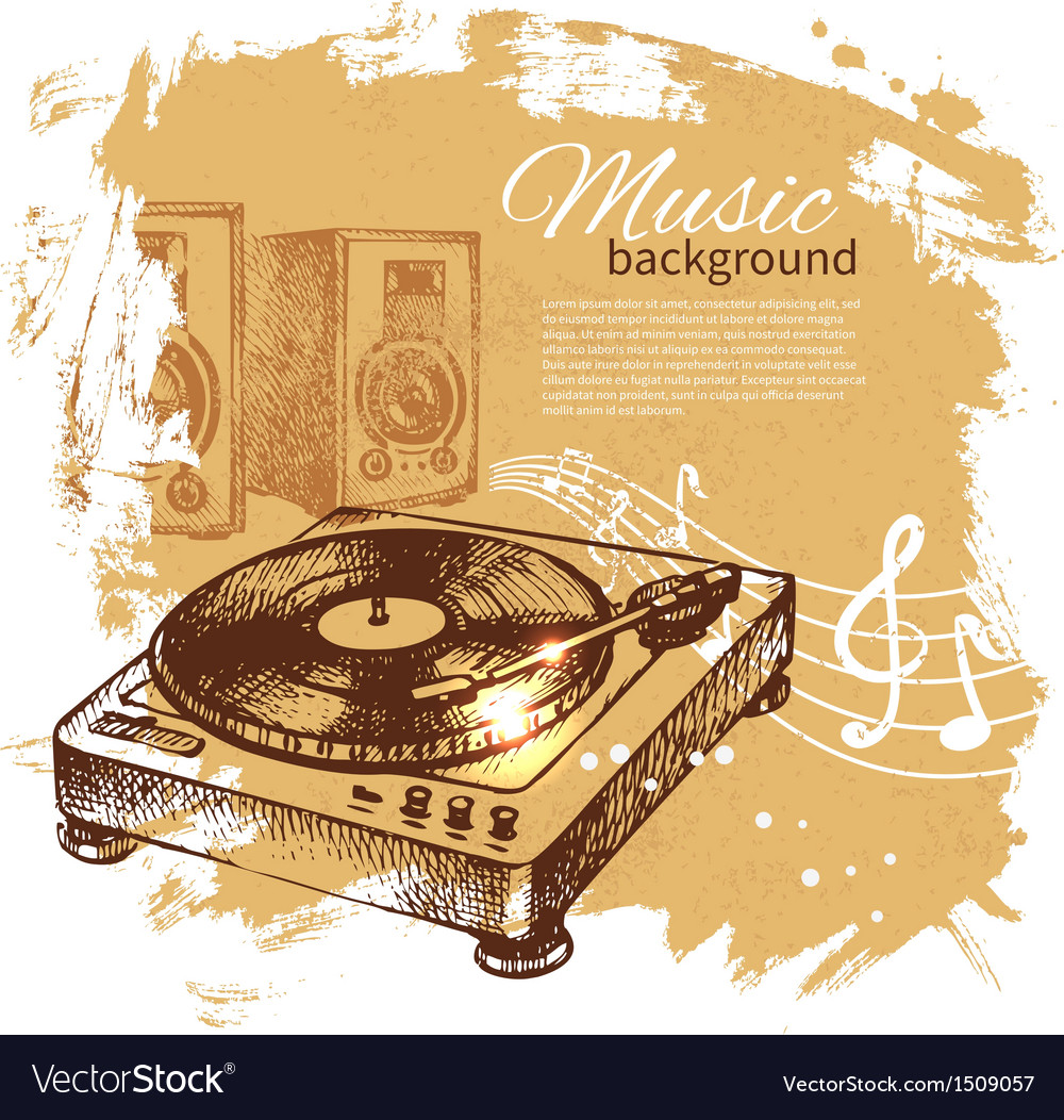 Music vintage background vector | Price: 1 Credit (USD $1)