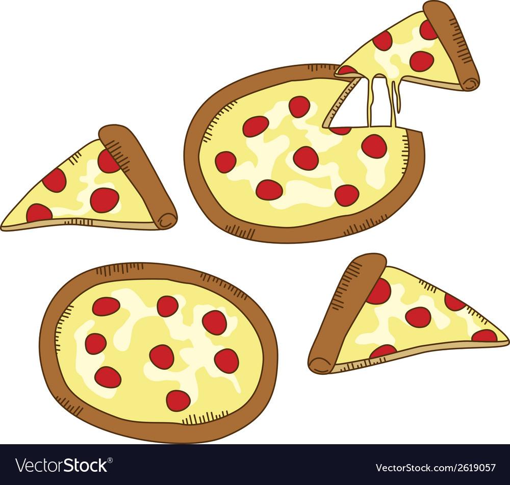 Pizza vector | Price: 1 Credit (USD $1)