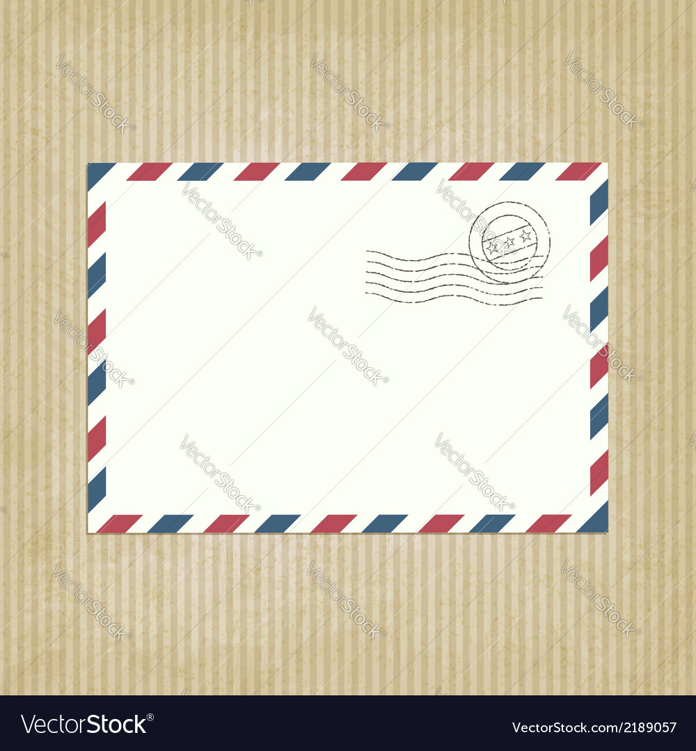 Retro background with envelope vector | Price: 1 Credit (USD $1)