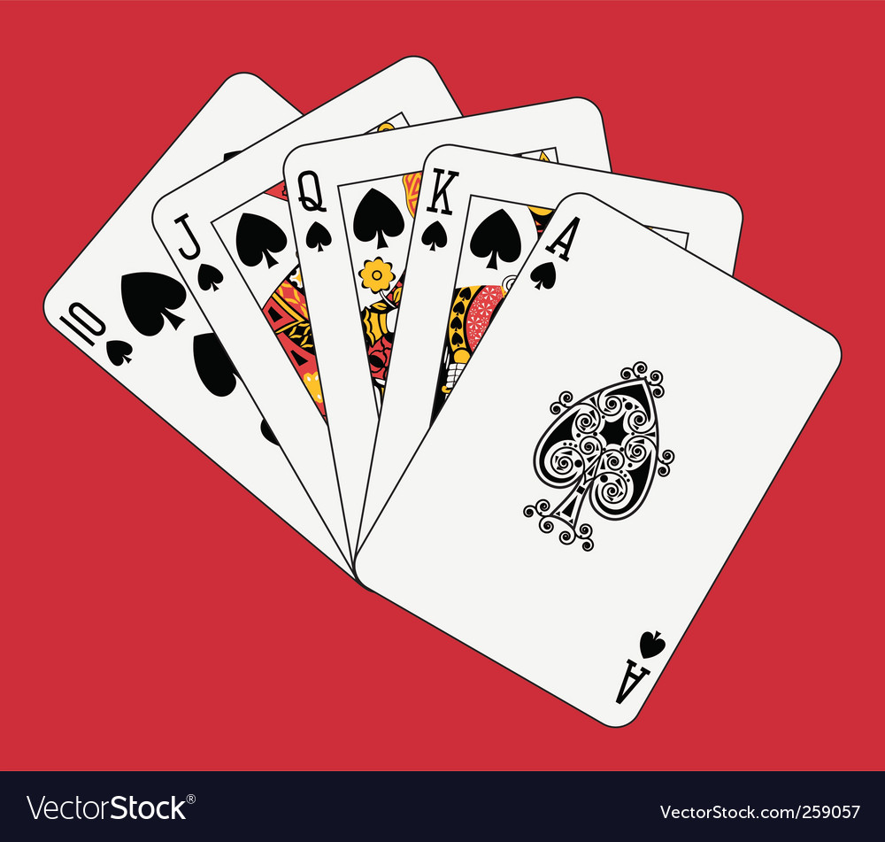 Royal flush spades vector | Price: 1 Credit (USD $1)
