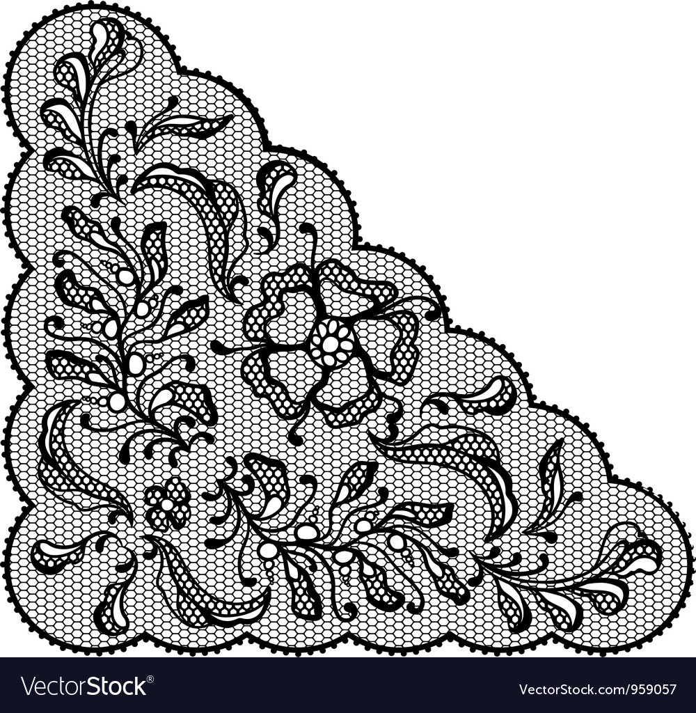 Vintage lace element ornamental flowers texture vector | Price: 1 Credit (USD $1)