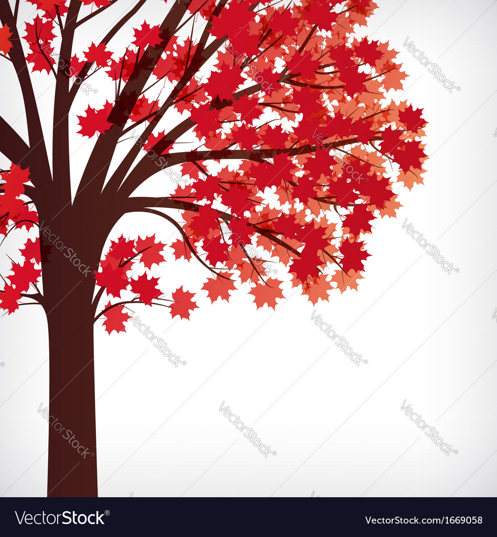 Abstract background maple tree with branches made vector | Price: 1 Credit (USD $1)