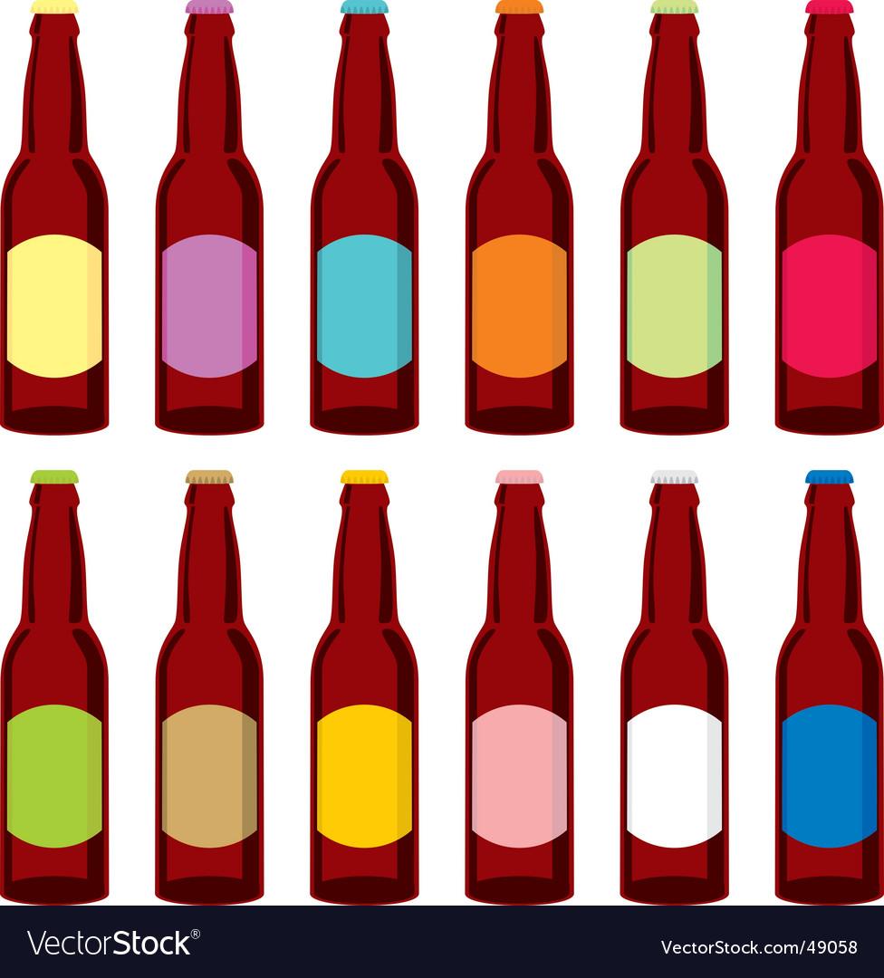 Beer bottles set vector   Price: 1 Credit (USD $1)