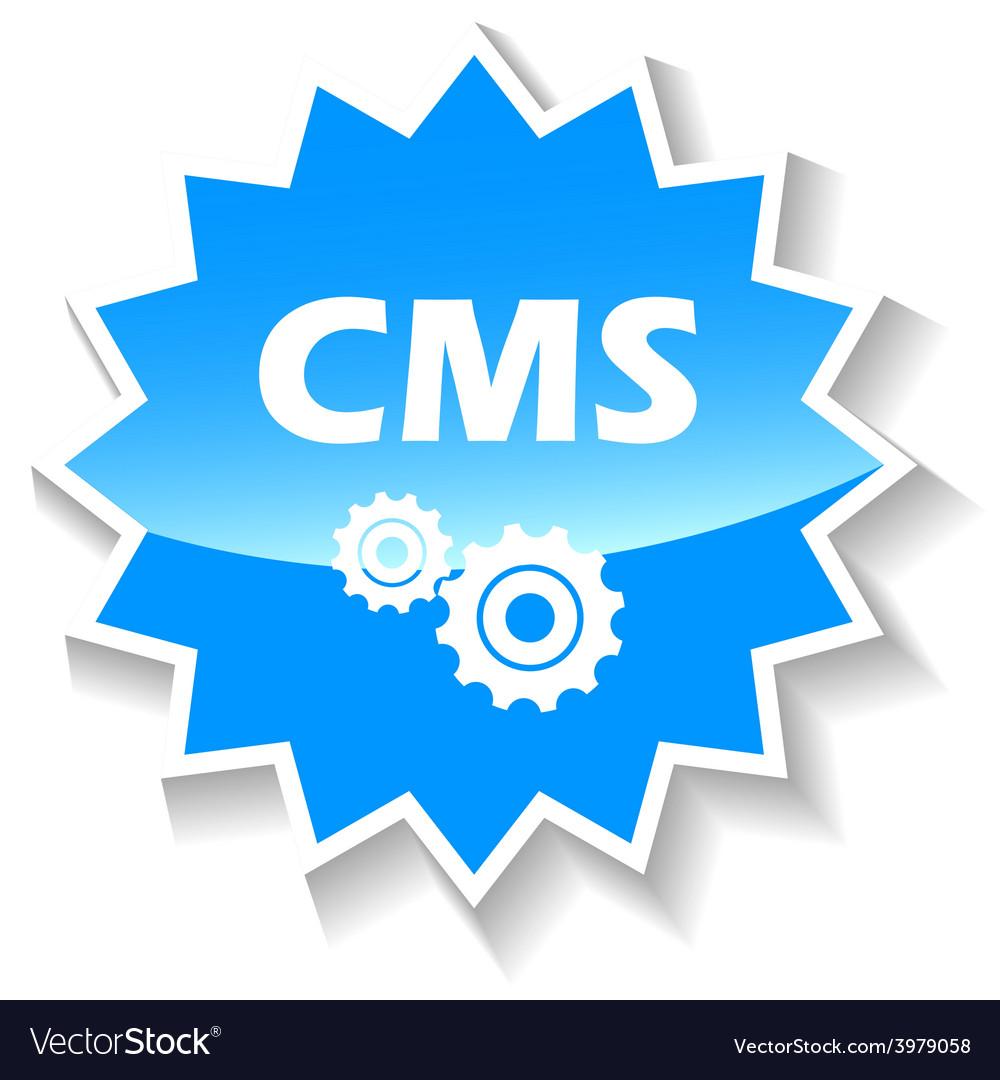 Cms blue icon vector | Price: 1 Credit (USD $1)