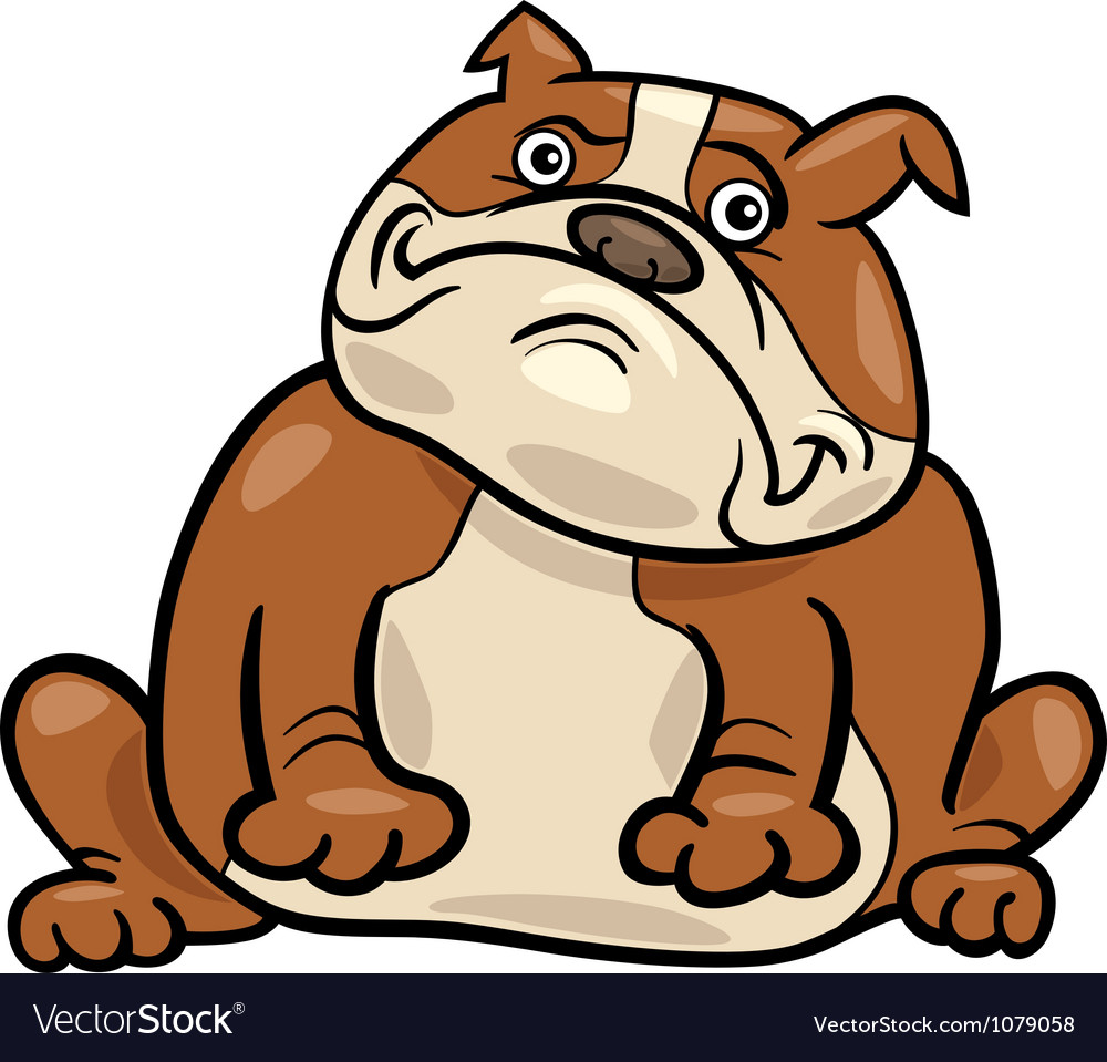 English bulldog dog cartoon vector | Price: 1 Credit (USD $1)
