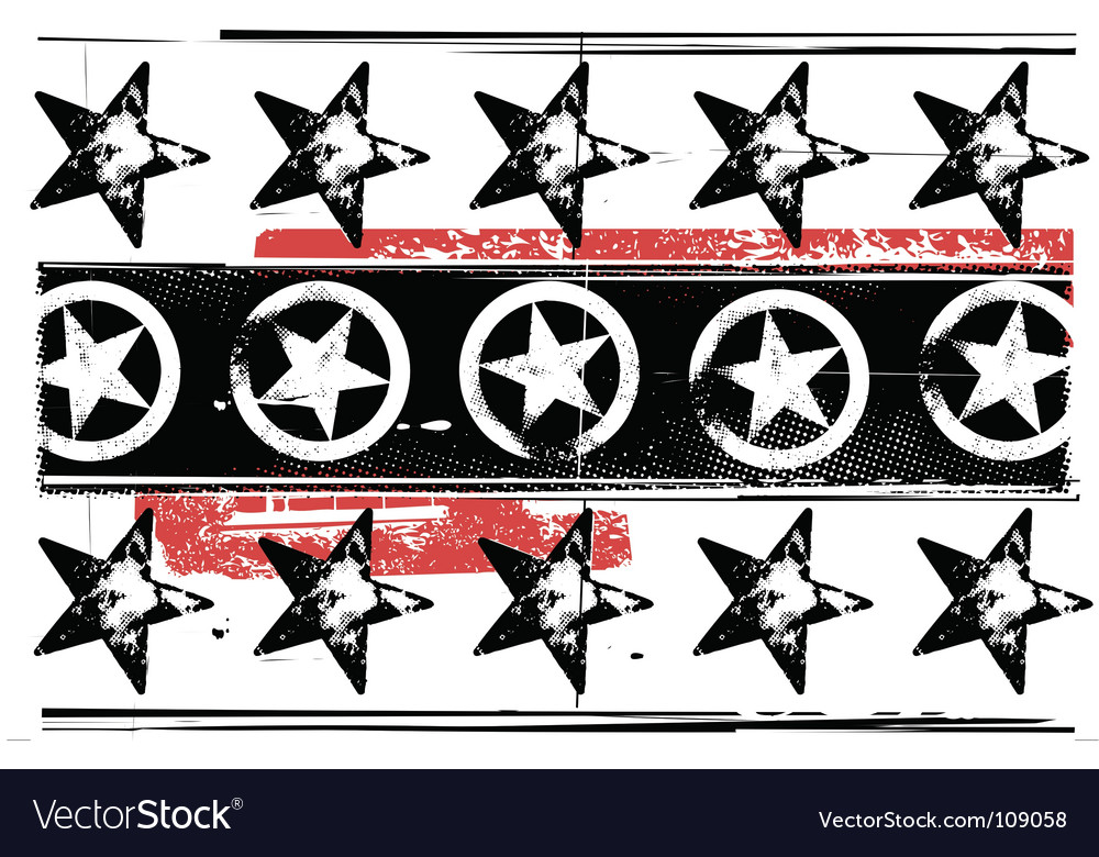 Grunge stars pattern vector | Price: 1 Credit (USD $1)