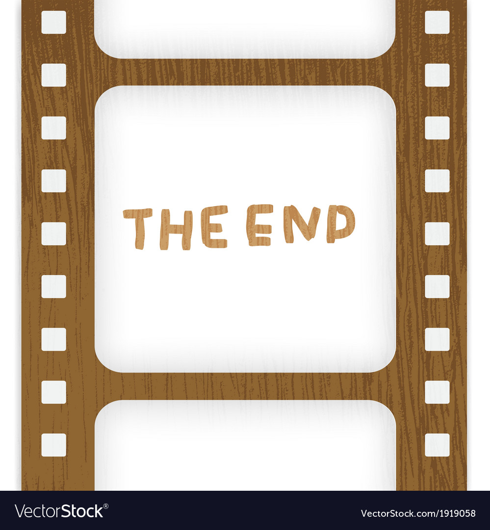 Old filmstrip movie ending frame vector | Price: 1 Credit (USD $1)