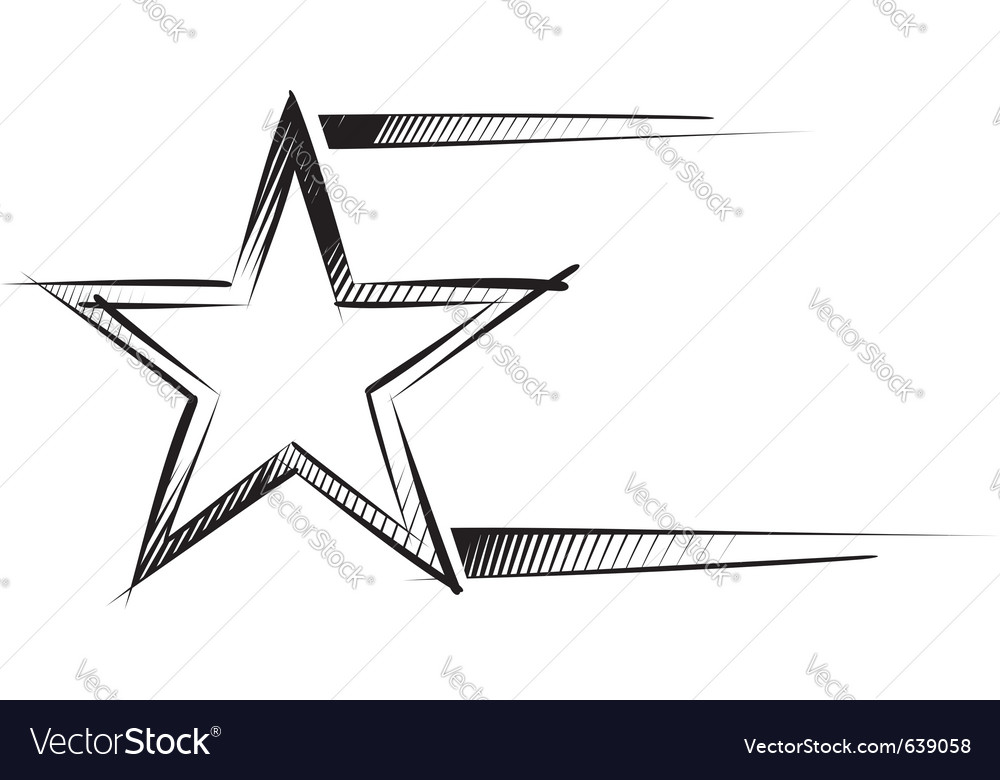 Star sketch vector | Price: 1 Credit (USD $1)