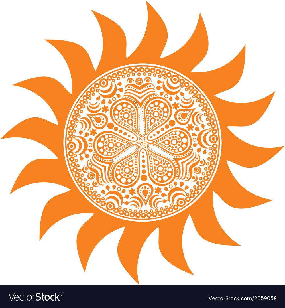 Stylized sun vector | Price: 1 Credit (USD $1)