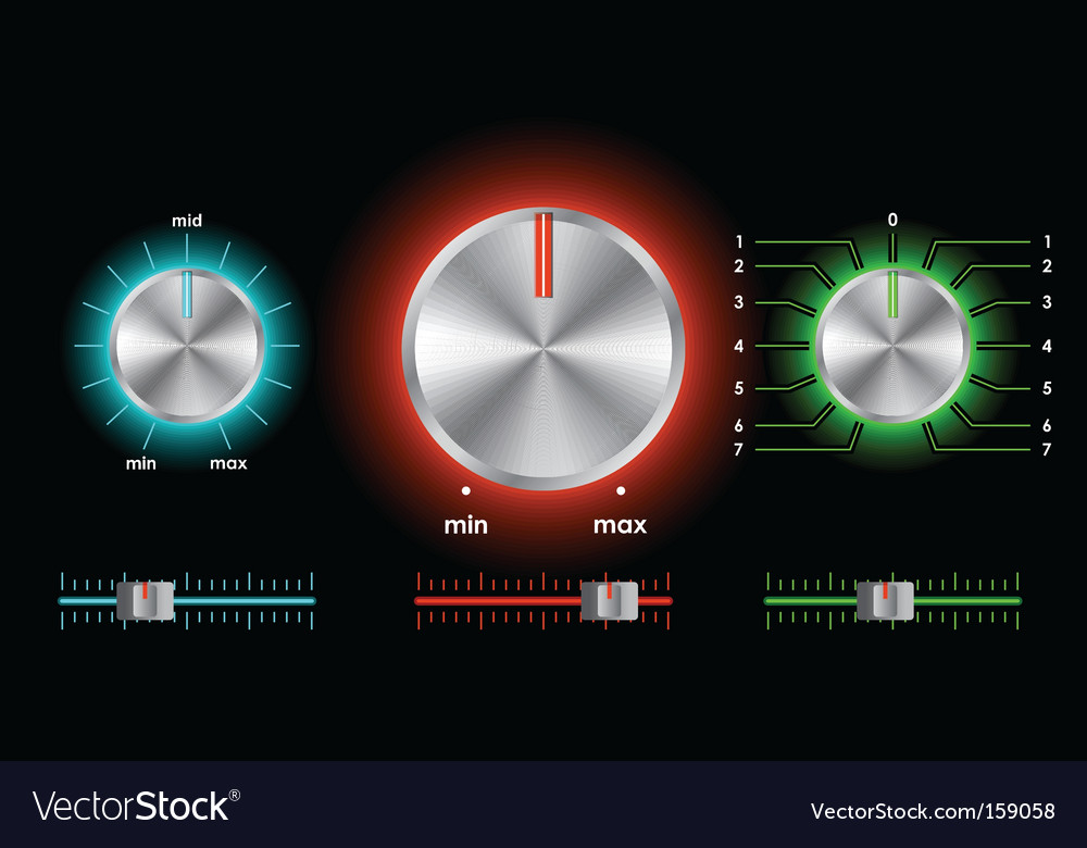 Volume balance knobs vector | Price: 1 Credit (USD $1)