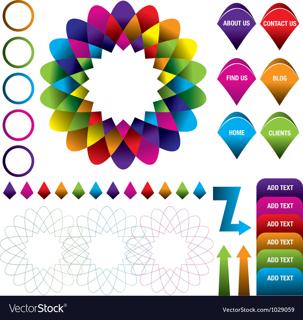 Abstract colorful logo infographic background vector | Price: 1 Credit (USD $1)