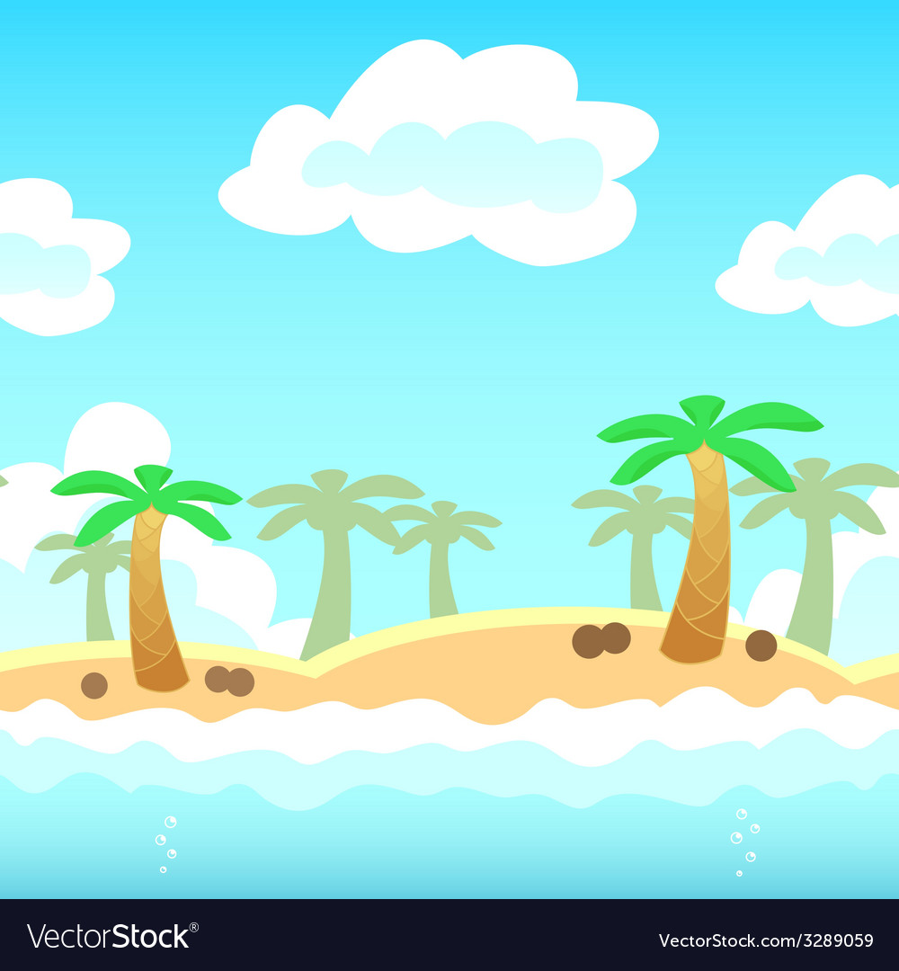 Beach game background vector | Price: 1 Credit (USD $1)