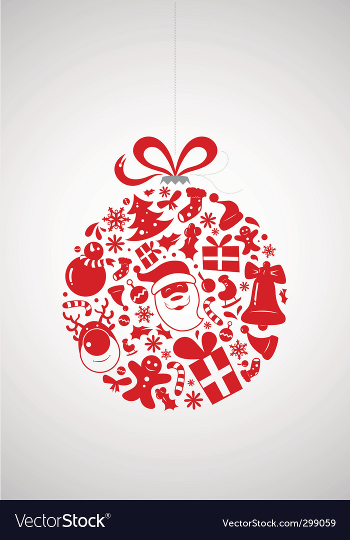 Christmas icon bauble vector | Price: 1 Credit (USD $1)
