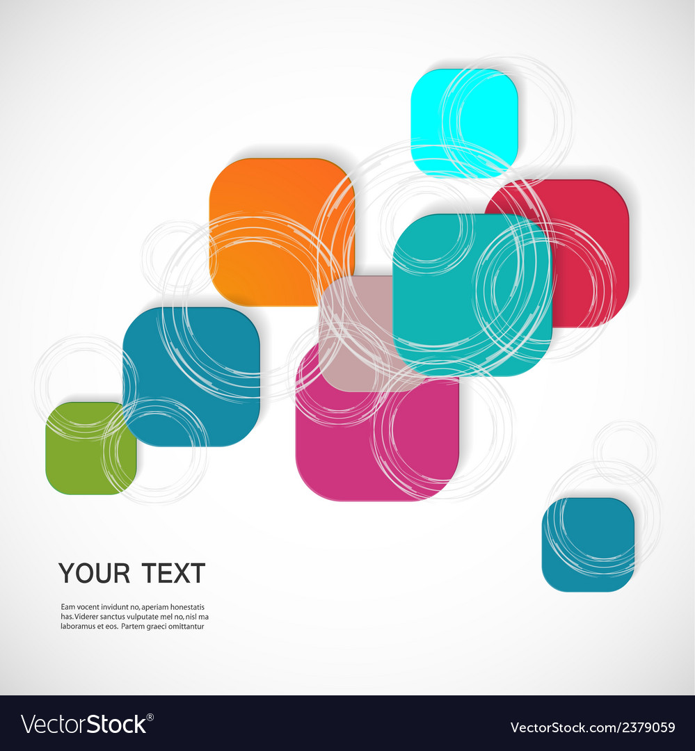 Color square connection eps vector | Price: 1 Credit (USD $1)
