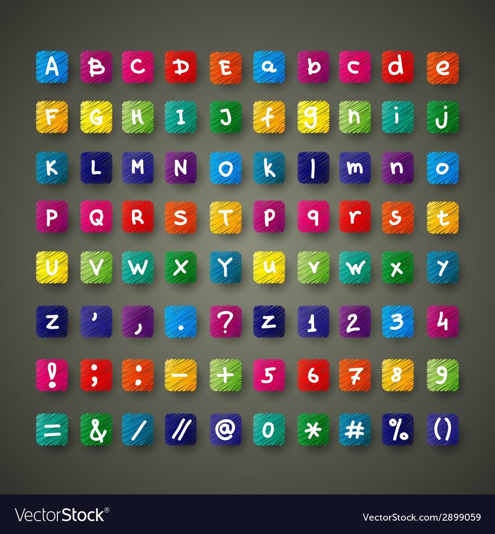 Colour font set vector   Price: 1 Credit (USD $1)