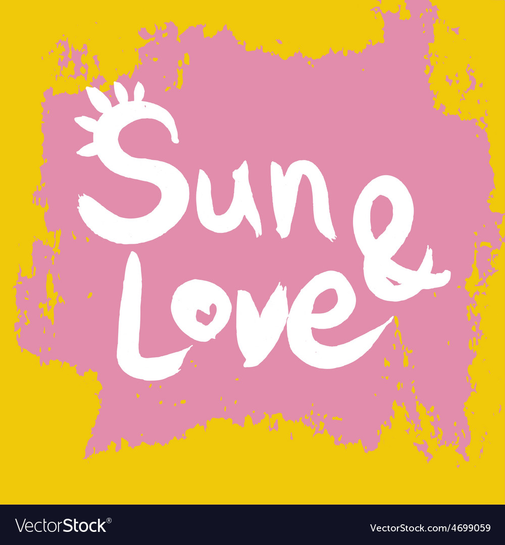 Creative graphic sun and lovewatercolor vector | Price: 1 Credit (USD $1)