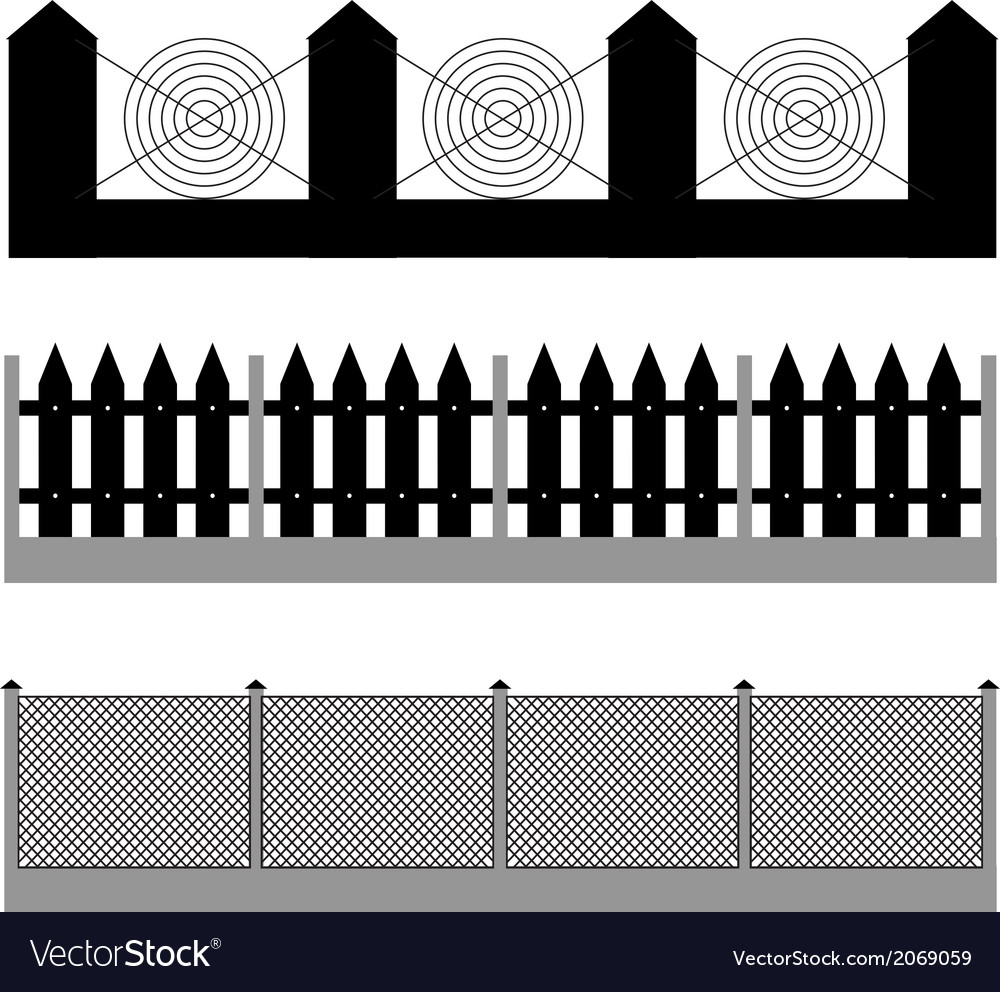 Fence silhouette vector | Price: 1 Credit (USD $1)