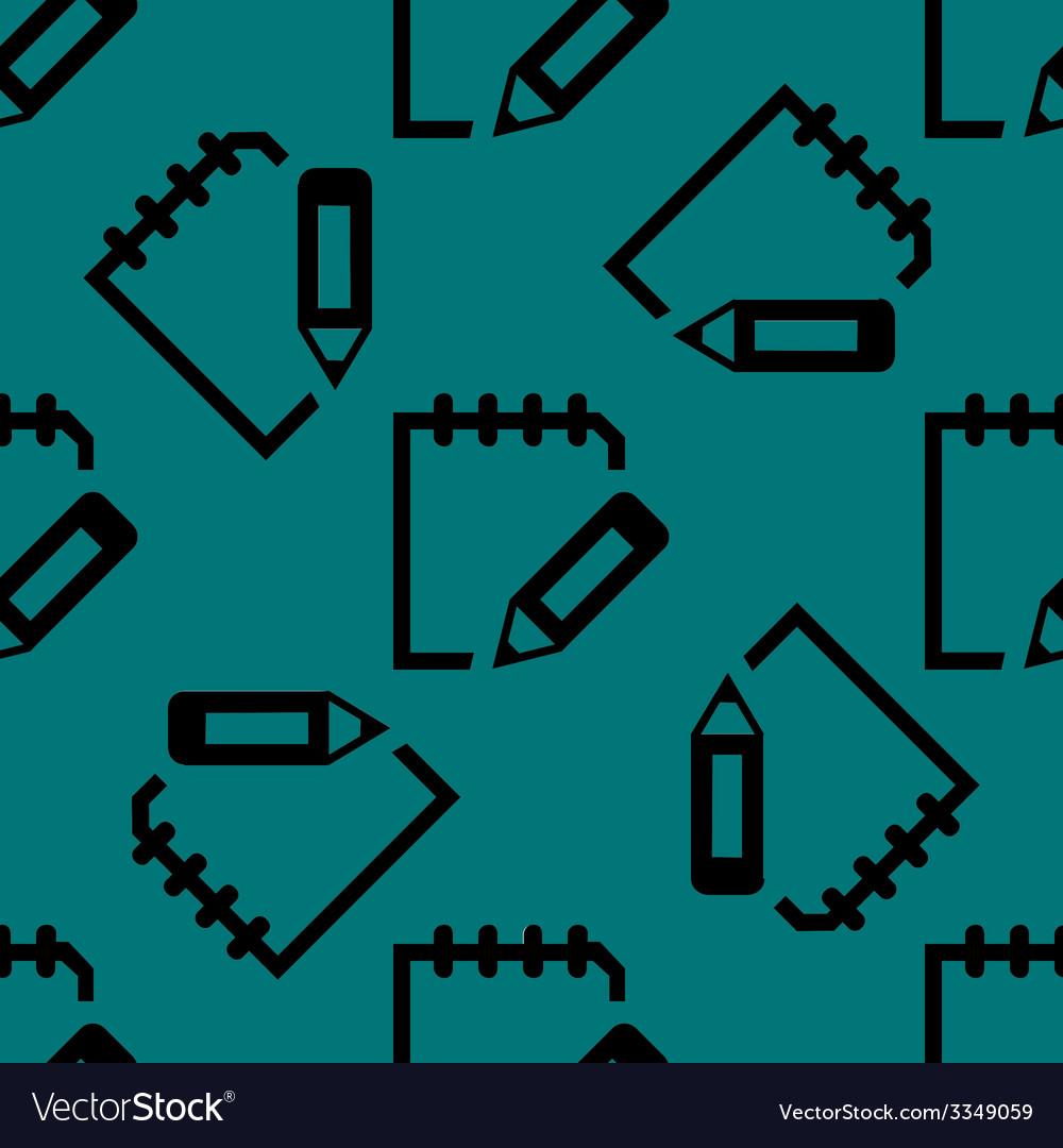 Globe web icon flat design seamless pattern vector | Price: 1 Credit (USD $1)