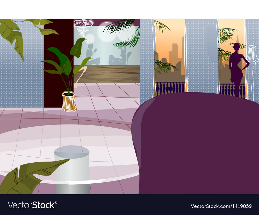 Hotel interior vector | Price: 1 Credit (USD $1)