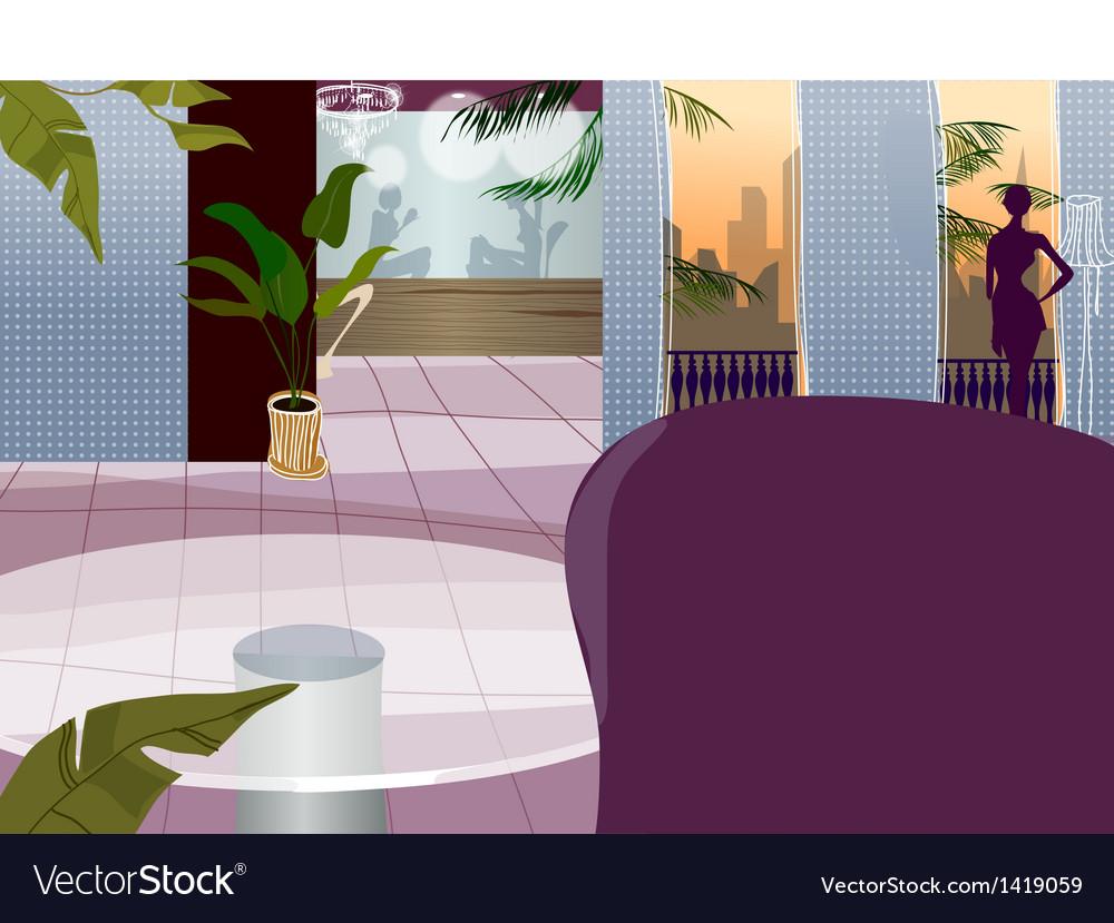 Hotel interior vector | Price: 1 Credit (USD $1)