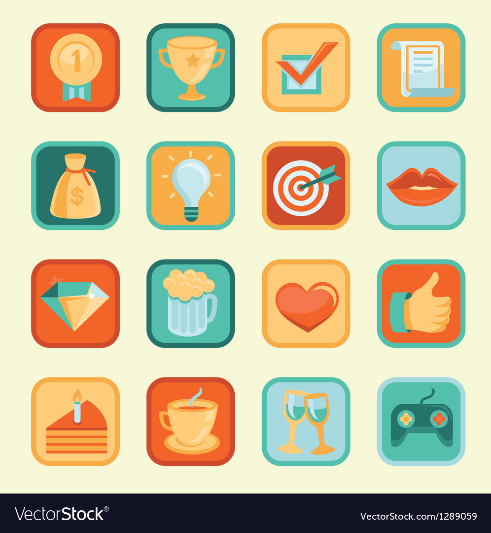 Set with achievement and awards badges for social vector | Price: 1 Credit (USD $1)