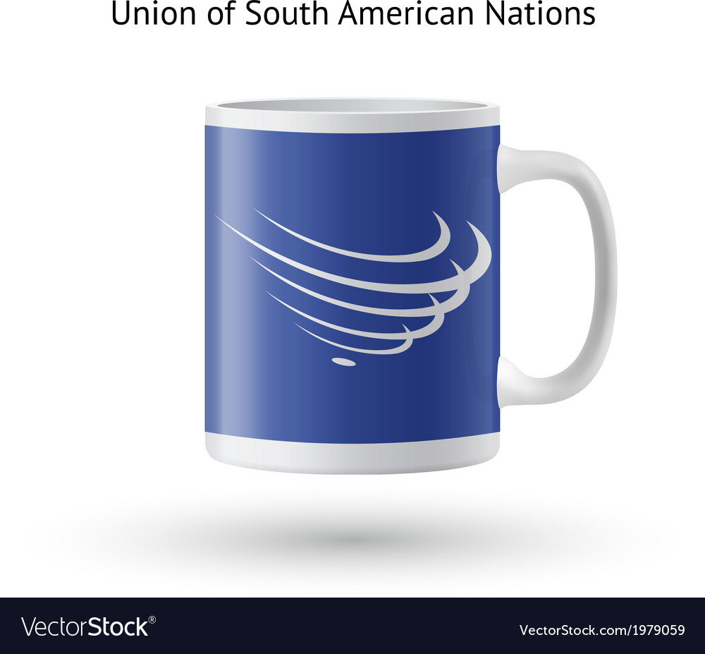 Union of south american nations flag souvenir mug vector | Price: 1 Credit (USD $1)