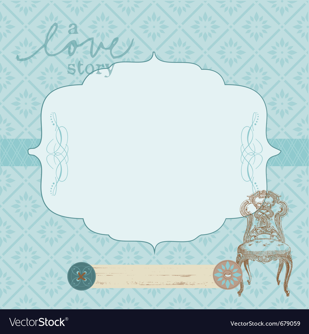 Vintage frame card vector | Price: 1 Credit (USD $1)
