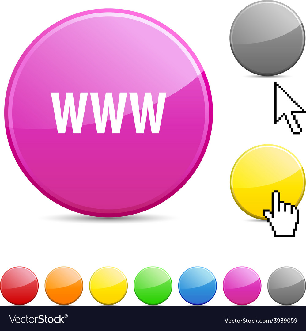 Www glossy button vector | Price: 1 Credit (USD $1)