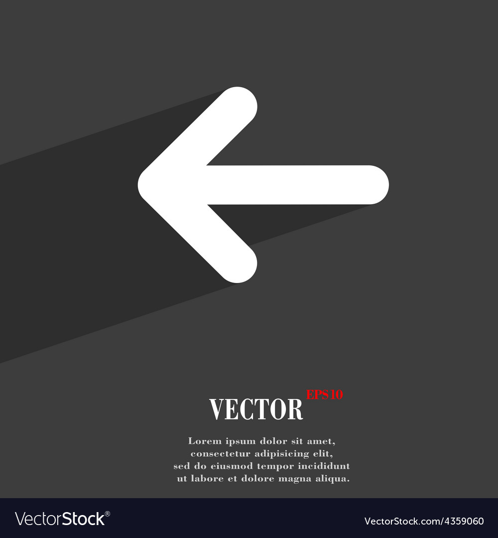 Arrow left way out icon symbol flat modern web vector | Price: 1 Credit (USD $1)