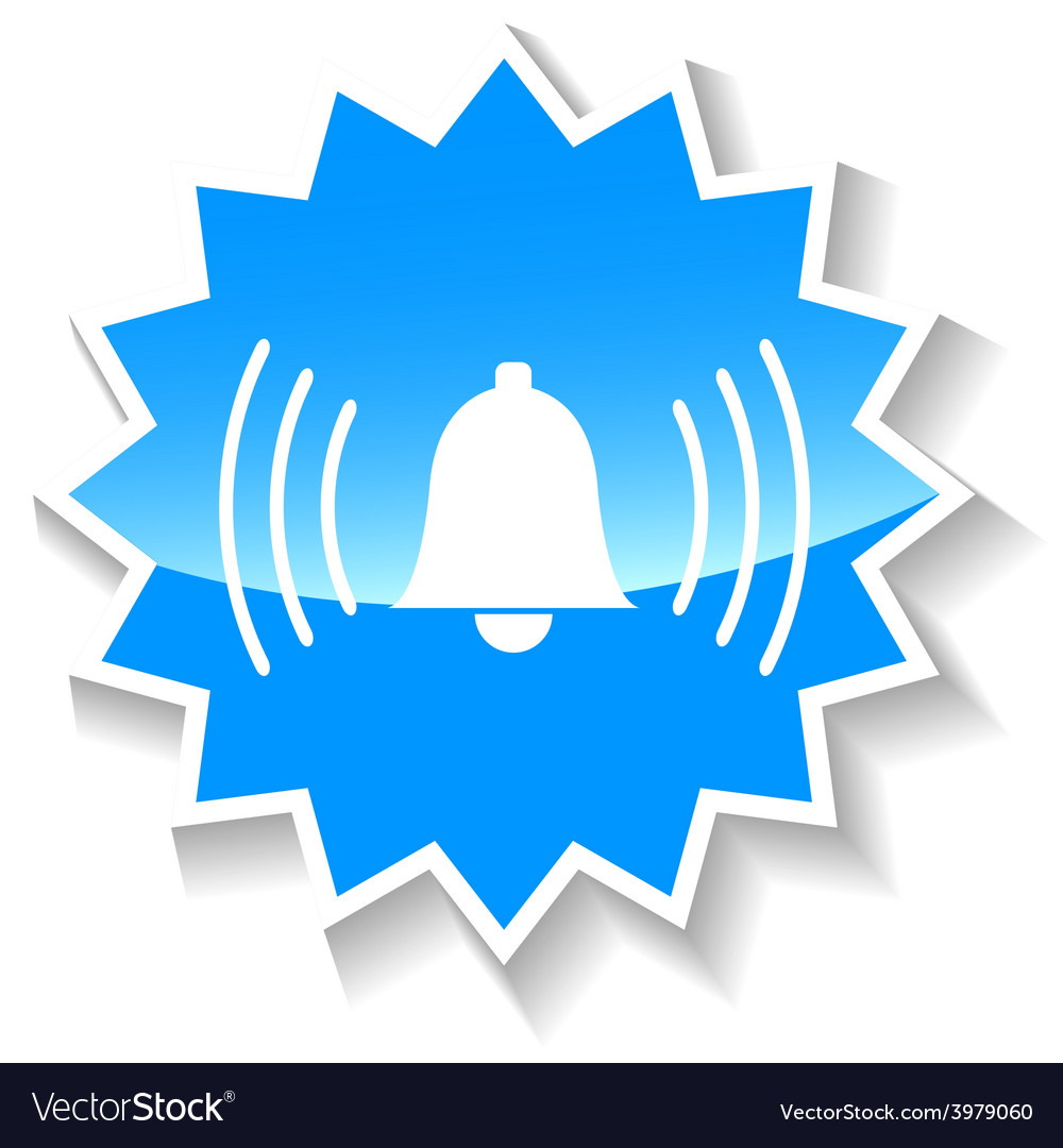 Bell blue icon vector | Price: 1 Credit (USD $1)